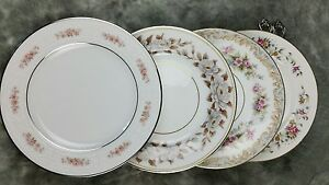 12-MISMATCHED-FINE-CHINA-CAKE-DESSERT-OR-BREAD-PLATES-4-PATTERNS-3-SETS-CP6