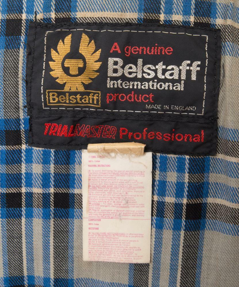 VINTAGE BELSTAFF TRIALMASTER GIACCA CERA PROFESSIONALE Made 36 92cm S Made PROFESSIONALE in England 446432