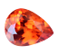 thumbnail 3 - Flawless 4.90 Ct Natural Fire Orange Sapphire CERTIFIED Pear Sparkling Gemstone
