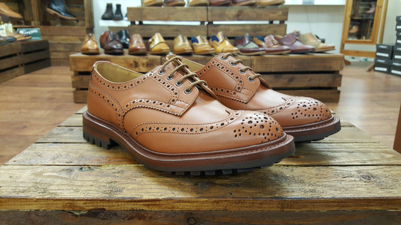 TRICKERS // Keswick Schuhes // Handmade C-Shade Derby Brogue Schuhes Keswick // NEW af3b67