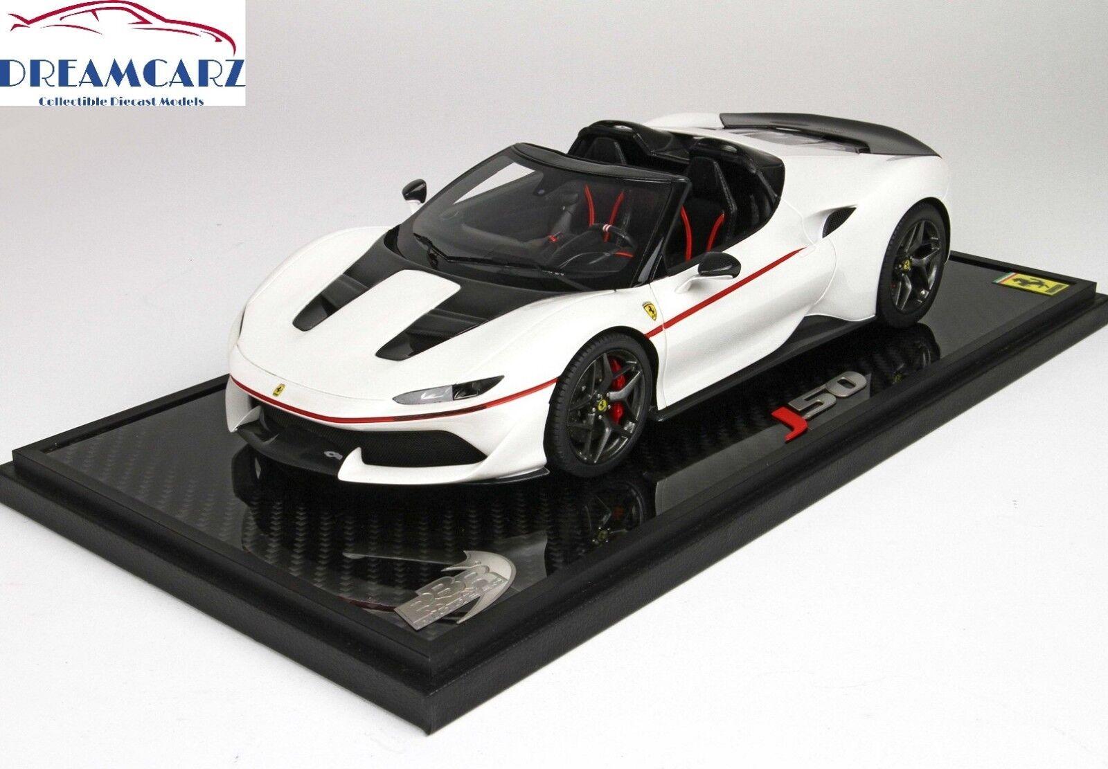 BBR P18156A 1/18 Ferrari J50 Bianco Liana Lucido Lucido Lucido - Limited 50 pcs 09c5ed