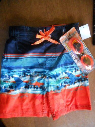 Boys ZeroXposur Swim Trunks Board Shorts Small 4 /& X Large 18-20  NWT /& Goggles