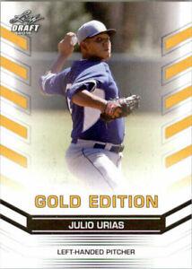 034-Raro-034-Julio-Urias-2015-Hoja-Draft-034-Oro-Edicion-034-Carta-Rookie