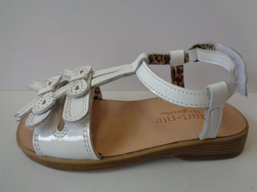 Girls Whte Patent Leather Open Toe Startrite Bow Sandals Firefly