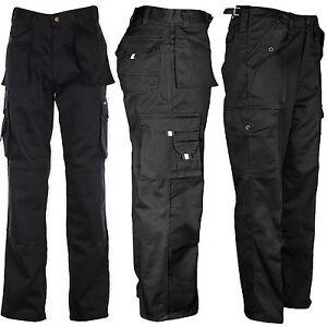 Para-Hombre-Tuff-de-servicio-tipo-cargo-De-Trabajo-Construccion-Bolsillo-TOUGH-cosido-pantalones