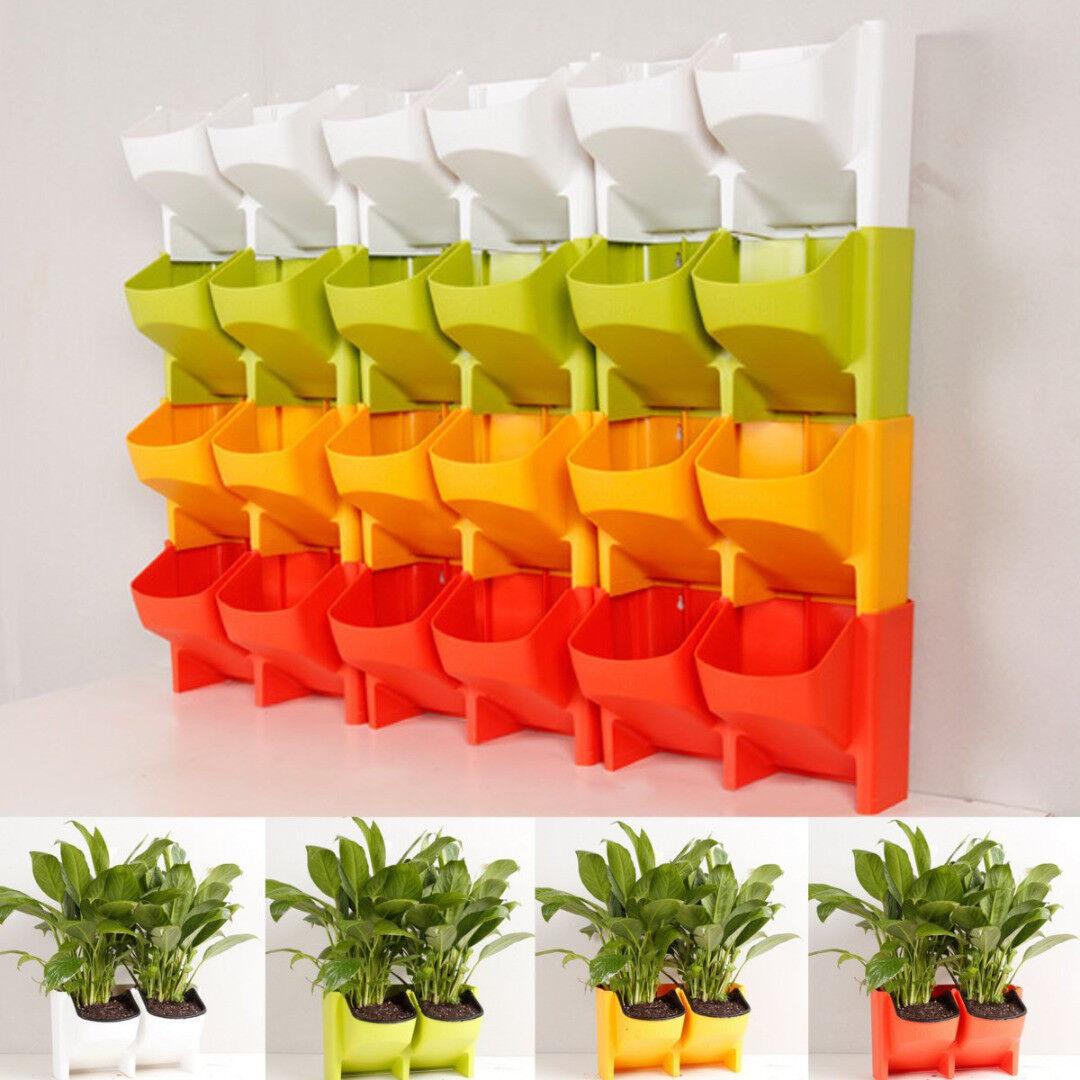 2 Pocket Self Watering Stackable Vertical Garden Wall Hanging