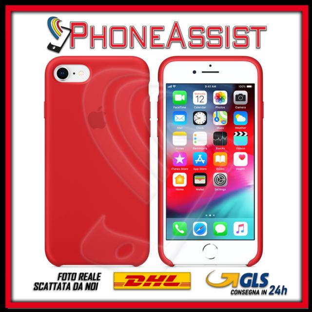 Apple Custodia di Silicone per Apple iPhone 8 Plus, Apple iPhone 7 Plus (PRODUCT)RED - Rossa (MQGX2ZM/A)