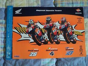 Poster-HONDA-HRC-MOTOGP-2011-Dovizioso-Pedrosa-Stoner-30x42-Original-rc212v