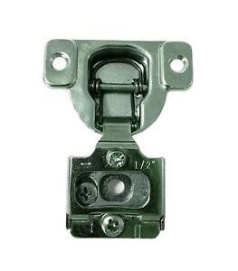 "50 Pcs - 6 Way Adjustment 1/2"" Overlay Face Frame Concealed Cabinet Door Hinges"