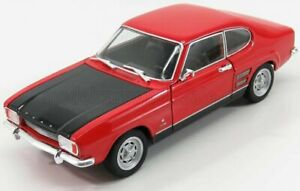 WELLY 1/24 FORD ENGLAND | CAPRI RS COUPE 1969 | RED MATT BLACK