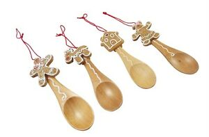 Gisela-Graham-Christmas-Tree-Decorations-Set-of-4-Gingerbread-Spoon-Decoration