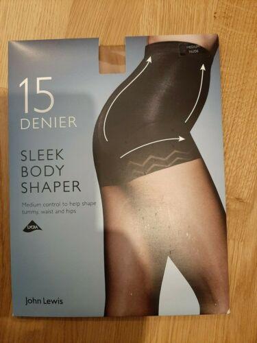 John Lewis 15 Denier Sleek Body Shaper Tights Medium NUDE NEW