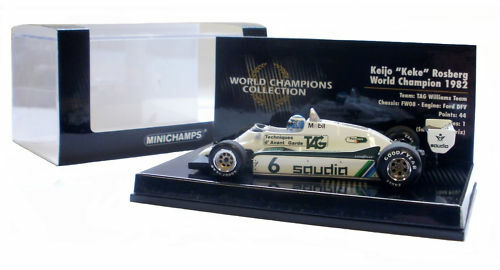 Minichamps Williams fw08 2018-Keke Rosberg 2018 World Champion  Escala