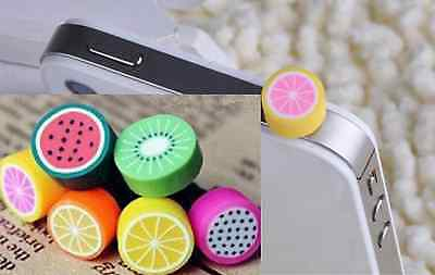 5pcs x 3.5mm Anti Dust Earphone Plug CUTE FRUIT Stopper Ear Jack Cap SALES!