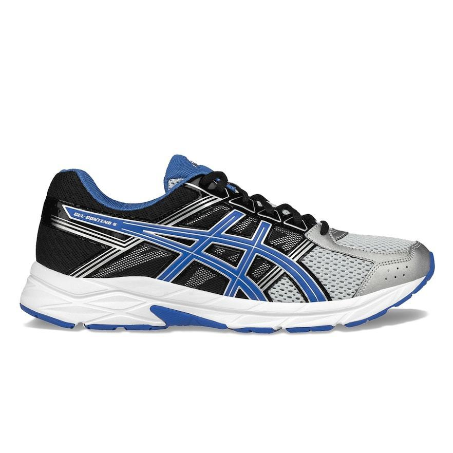Asics Gel Shoe Contend 4 Men's Running Shoe Gel Silver/Blue/Black Size 11 768362