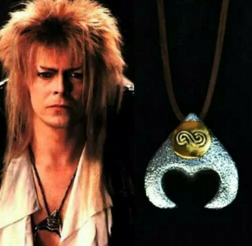 David Bowie LABYRINTH Jareth Goblin King Movie Pendant Necklace Gift Pouch UK