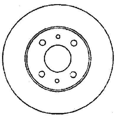 Vetech Front Vented Brake Disc 284mm Fiat Fiorino 2009-2015 225 1.3 D Multijet