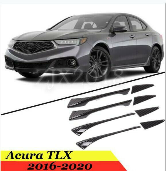 For Acura TLX 2016- 2020 ABS Carbon Fiber Car Outer Door