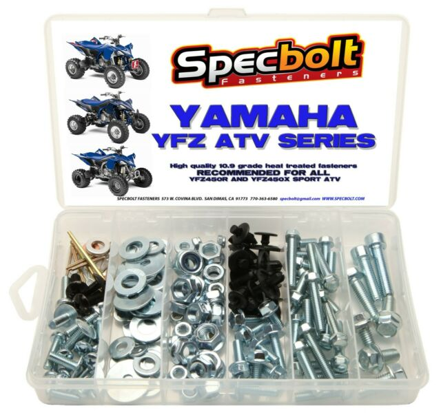 Yamaha Atv Bolt Kit Yfz450 Yfz 450 Specbolt 250 Pc Fasteners Plastic Body Engine For Sale Online Ebay