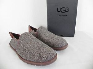 251e98d17d1 Details about NEW MENS 9 UGG COOKE WOOLRICH DONEGAL GRIZZLY TWEED WOOL  SUEDE LOAFERS SLIPPERS
