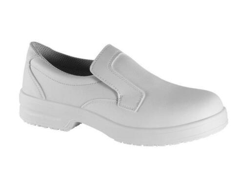 chaussures de sécurité blanc Pantoufles Antidérapant Chaussures de Cuisine Laboratoire Chaussures de travail