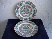 Set 2 Vtg. Rose Canton Medallion Birds Butterflies Made in China Dinner Plates