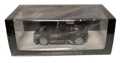 Ott Tanak 1//43 Scale Spark Ford Fiesta RS WRC 8th Monte Carlo 2012