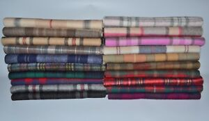 New-Scottish-100-Lambswool-of-Scotland-Scarf-Tartan-Check-Wool-Scarves-Stoles