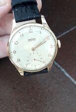 orologio vulcain grand prix  anni 50 laminato oro 20 micron carica manuale