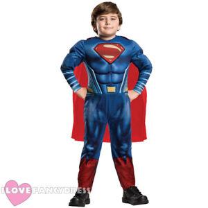 Image is loading CHILD-DELUXE-SUPERMAN-COSTUME-OFFICIAL-LICENSED-KIDS -SUPERHERO-  sc 1 st  eBay & CHILD DELUXE SUPERMAN COSTUME OFFICIAL LICENSED KIDS SUPERHERO ...