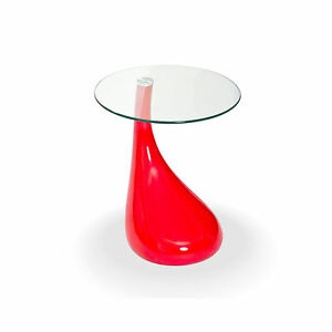 01aa2a1d7aeb Fab Glass and Mirror TearDrop Side Table with 18
