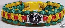 Prisoner of War POW MIA Vietnam Service Ribbon Handmade Paracord Bracelet Band