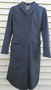 NEW women's ANN TAYLOR long trench fitted black jacket coat  6 small