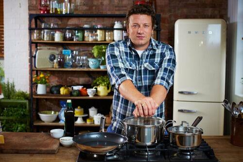 Jamie Oliver by Tefal b89985 couvercle en verre ° 24 cm avec poignée en acier Inoxydable Gravure