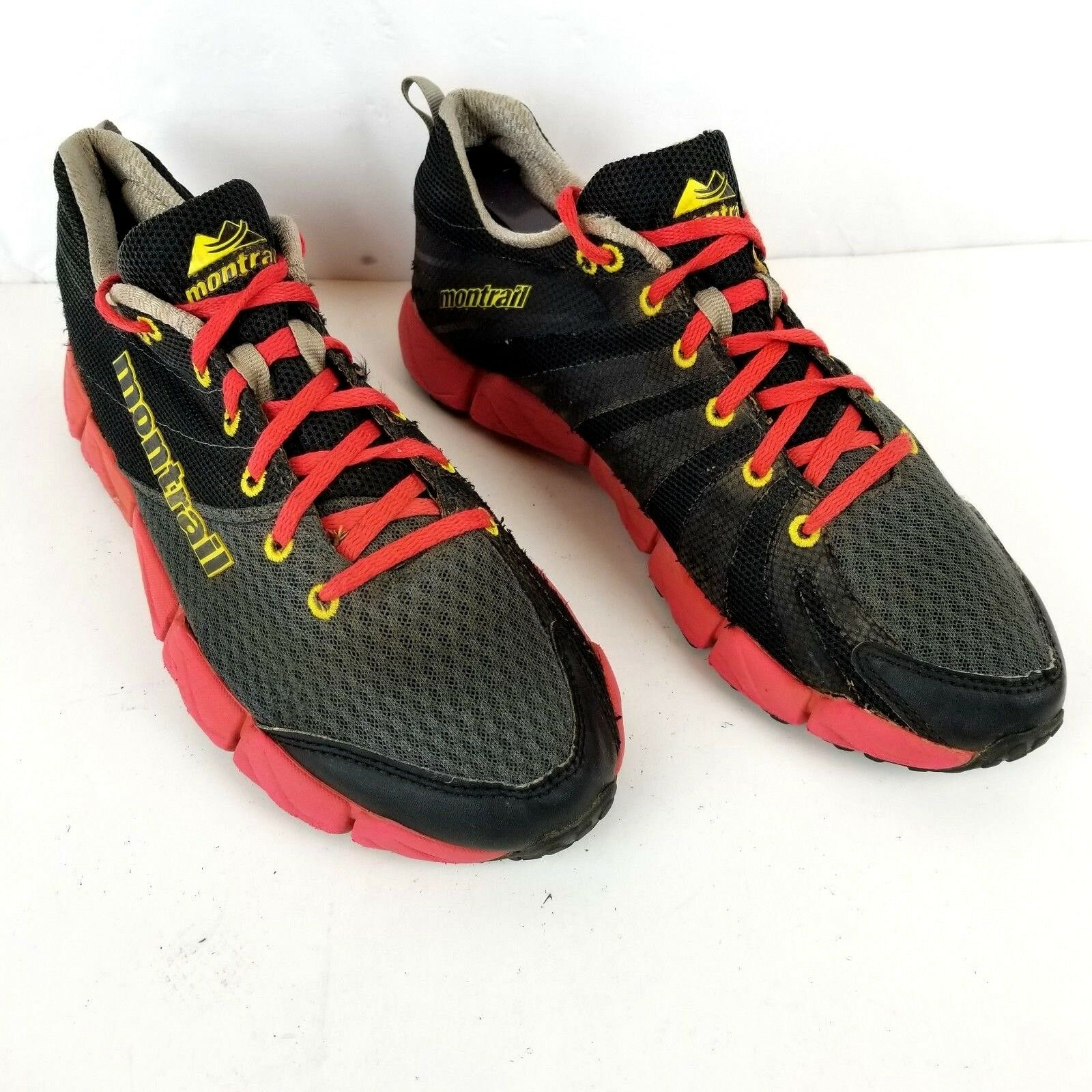 Montrail Womens Sz 9 Fluid Flex II Black Red Trail Running Shoes GL2157028