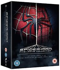 Spider-Man Complete Collection 1-5 [5 Movies] (Blu-ray, Region Free) *NEW*