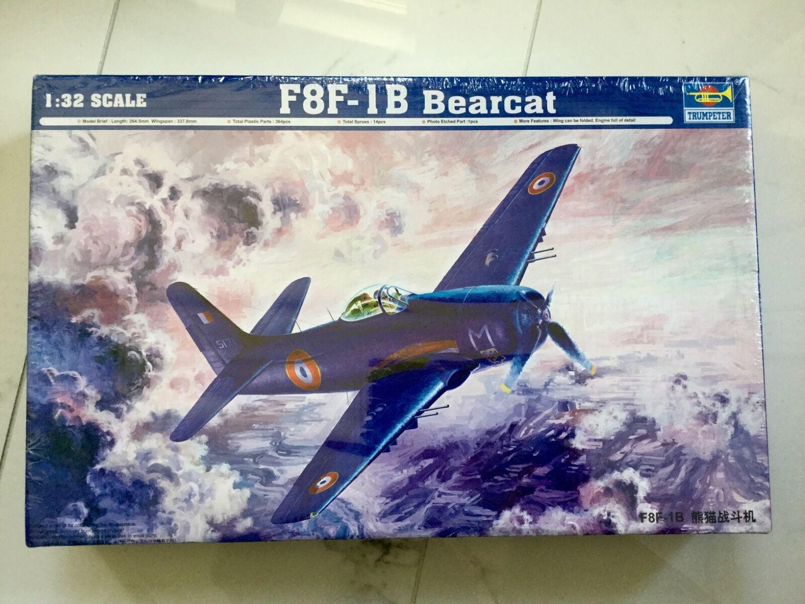 TRUMPETER 1 32  U.S. AIR FORCE F8F-1B BEARCAT PLASTIC. MODEL KIT F S