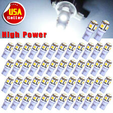 50X T10 5050 5-SMD Super White 192 168 194 501 W5W LED Car Side Wedge Light Bulb