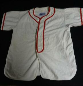 Awesome-Vintage-Kid-039-s-Baseball-Uniform-034-Moore-Plumbers-034-NICE