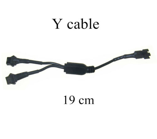 6ft Power Lead Extension /& 2 Female Connector Into 1 male Connector Y Cable