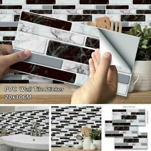 9pcs 3d Brick Tile Sticker Selbstklebende Wandaufkleber Dekor Badezimmer Ebay