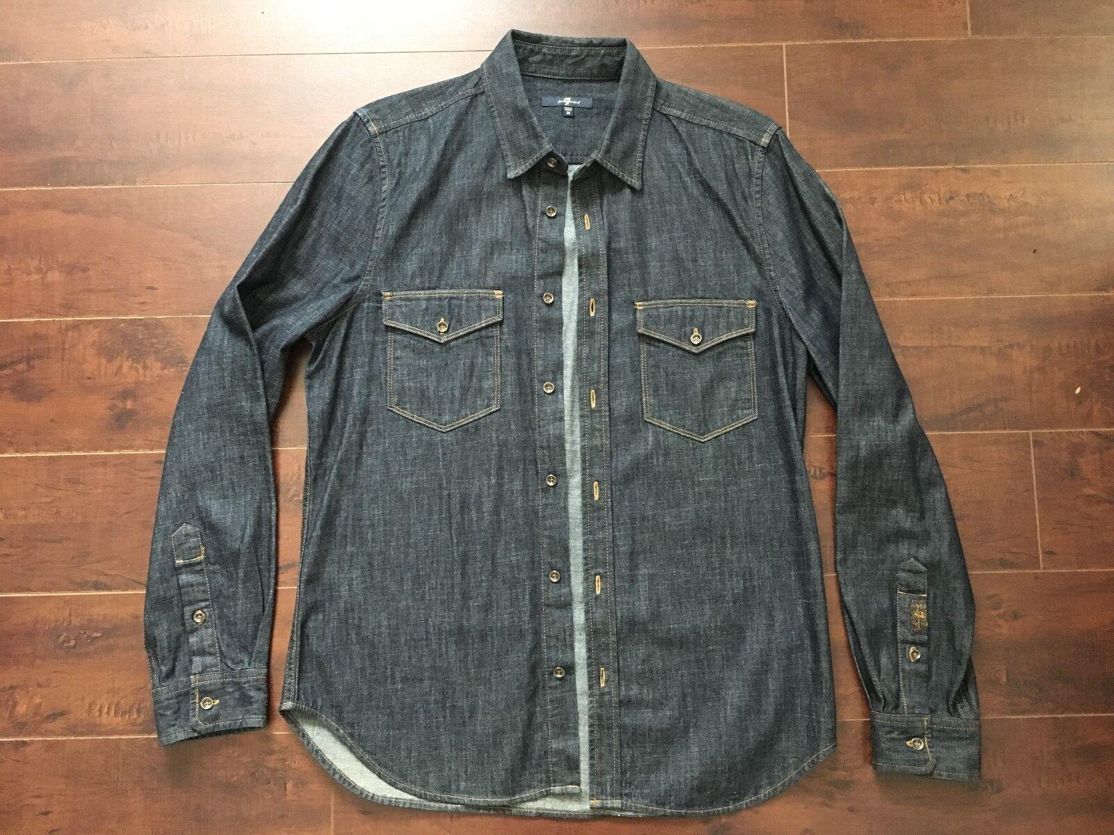 NWOT 7 for All Mankind Men's Slim Fit Denim Shirt – M