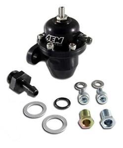 AEM-HONDA-ACURA-Fuel-Pressure-Regulator-Offset-with-90-Degree-Return-25-304BK