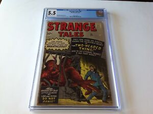 STRANGE-TALES-95-CGC-5-5-THE-TWO-HEADED-THING-DITKO-KIRBY-MARVEL-COMICS