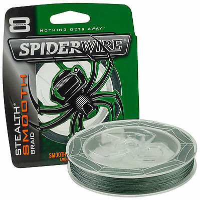 Spiderwire Stealth Smooth 8 Braided Line*2 Colours*3 Lengths*Carp Pike Fishing