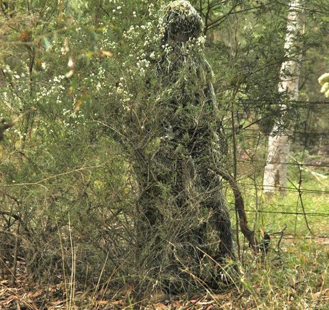 Camouflage 5pcs Woodland 3D Ghillie SuitBionic Training Bowhunt Ghillie Suit
