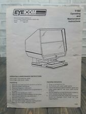 Eyecom 1100 Microfiche Microslide Viewer Operating And Maintenance Instructions