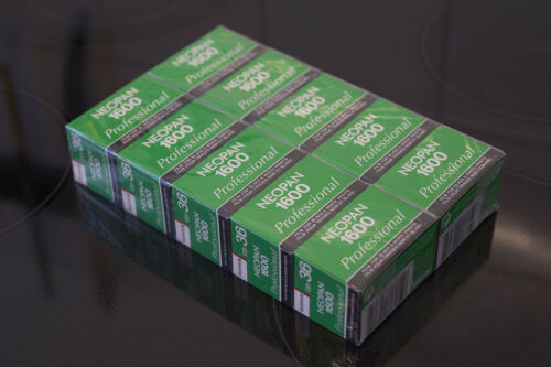 10 rolls of Fujifilm Neopan1600 Professional film like Delta or T-Max 3200