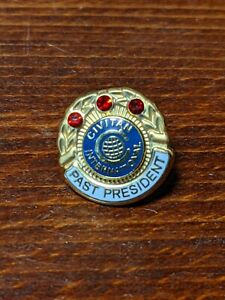 Vtg-10K-Gold-Filled-amp-Gem-Service-Award-Pin-Civitan-International-Past-President