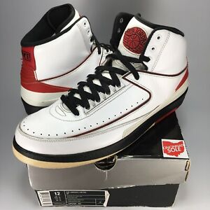 best cheap 59f3a 99abd Image is loading Jordan-2-Chicago-Size-12-nike-air-retro-